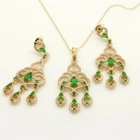 luxury cocktail party jewelry set gold filled womens tassel long pendantearrings gift sexy accessories