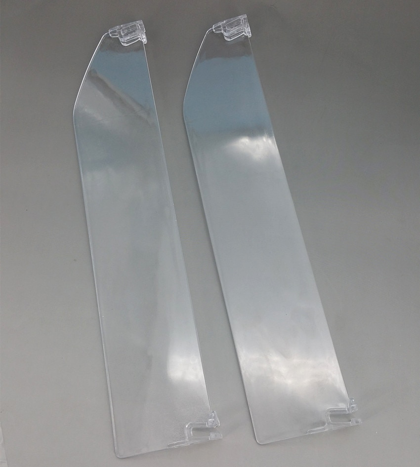 Plastic Supermarket Retail Shelf PS Transparent Dividers L 286mm Matched With Pushing System And Rails Available 200pcs