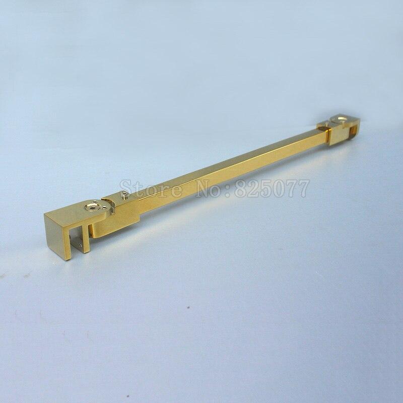 1PCS Titanium Gold Stainless steel Shower Glass door fixed rod/clip,Bathroom glass support bar,length 40/60/80cm JF1608