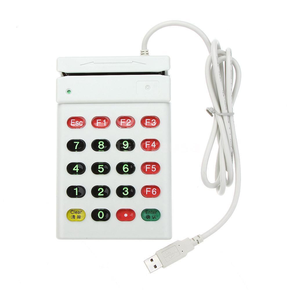 Lecteur de cartes magnétiques USB avec Interface USB   Numéro de clavier, lecteur de cartes USB MSR lecteur de cartes, prise et jeu