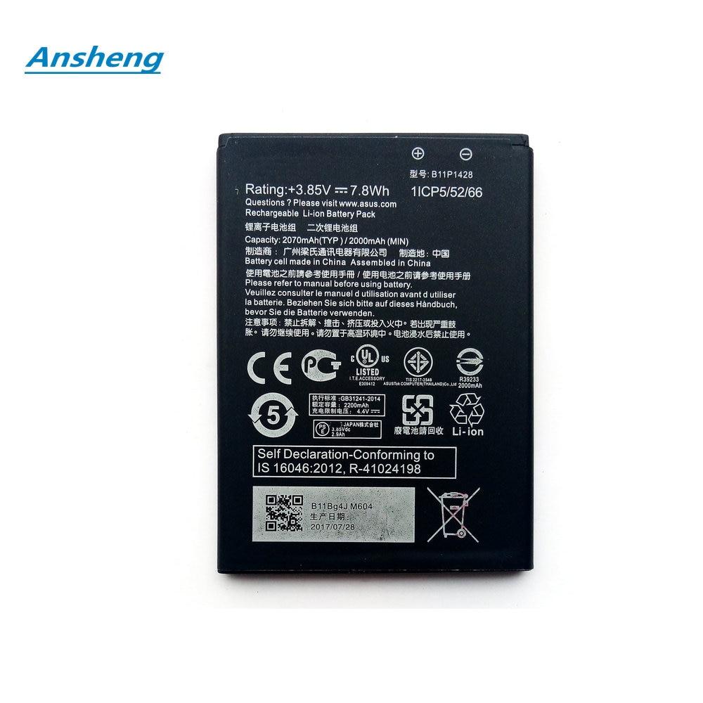 "Высокое качество 2000 мАч B11P1428 батарея для Asus ZenFone ZB450KL ZE500KG 5 ""X009DB ZB452KG ZenFone Go 4,5 смартфон"