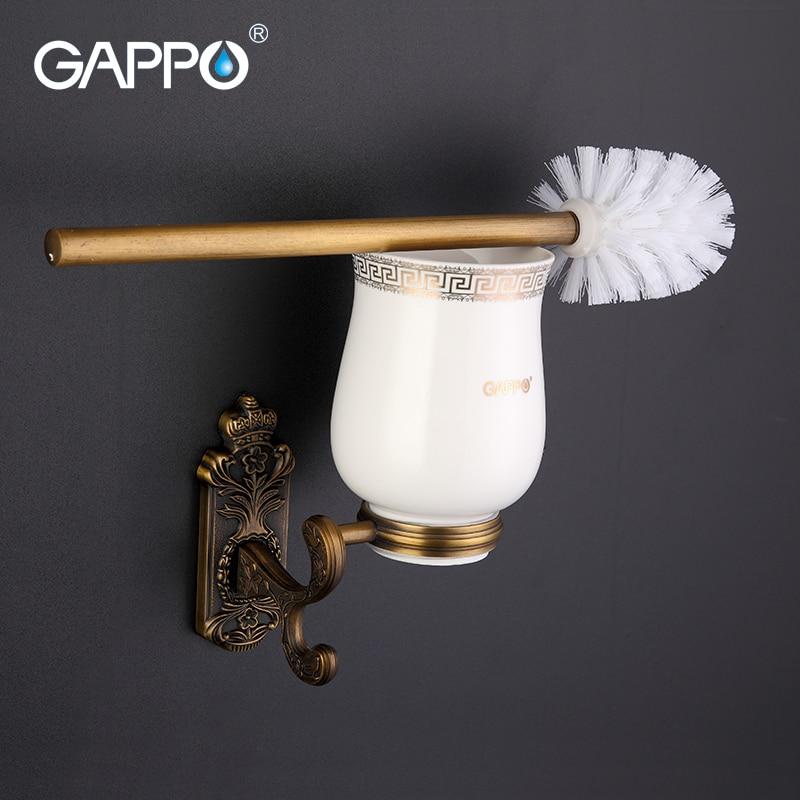 GAPPO البرونزية جدار الخيالة العتيقة حامل فرشاة المرحاض تصاعد حامل مقعد الكؤوس cetceramics الحمام إكسسوارات الأجزاء الداخلية للكمبيوتر G3610
