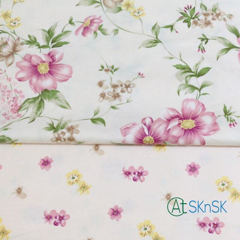 2 шт./лот, хорошая ткань, сделай сам, швейная ткань для одежды, занавеска, скатерть, постельные принадлежности, текстиль, хлопковая ткань с цве...
