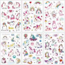 6 unids/pack de dibujos animados dulce unicornio Rosa bala diario decorativos papelería pegatinas DIY Scrapbooking diario álbum palo etiqueta
