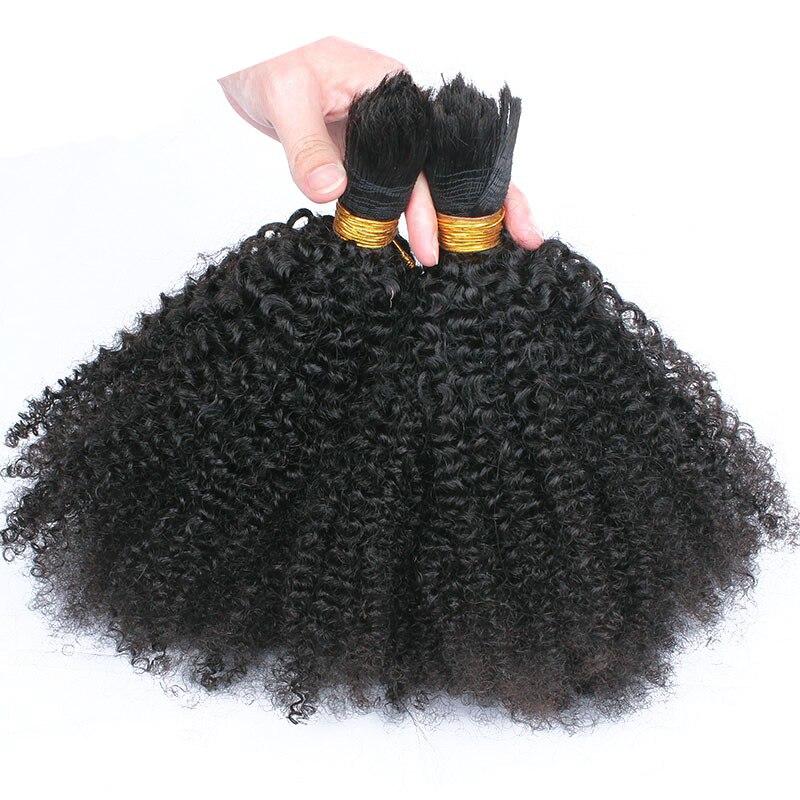 Flechten menschliches Haar Groß Kein Schuss 4B 4C Afro Verworrenes Lockiges Groß Haar Für Flechten 3 Teile/los Mongolischen Remy Haar häkeln Zöpfe