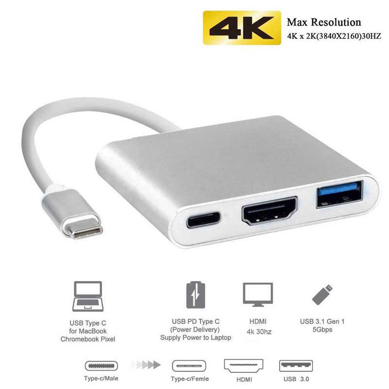 Uosible Thunderbolt 3 адаптер концентратор USB Type C к HDMI 4K Поддержка режима Samsung Dex USB-C Doce с PD для MacBook Pro/Air 2019