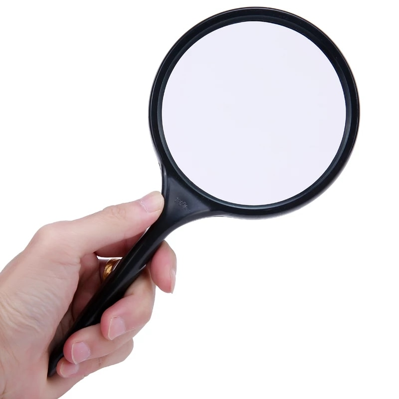 10X100mm Mão Reading Magnifier Zoomer Lupa Lente De Vidro