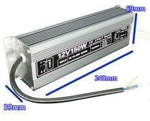 Étanche DC 12 V 150 W led pilote IP67 contrôle daccès pilote adaptateur lumière led transformateur 12.5A chargeur de puissance pour leds