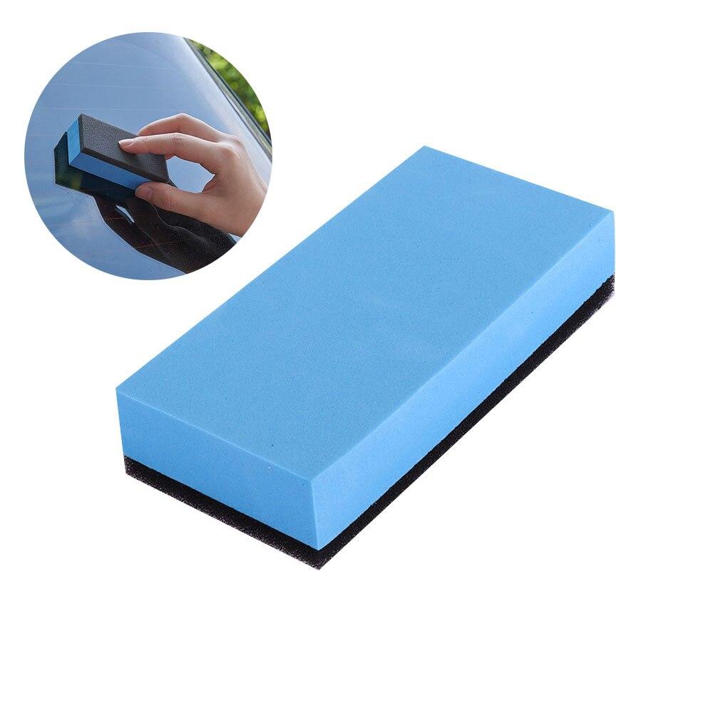 1 pçs lavagem de carro espuma laca revestimento esponjas manutenção do carro enceramento esponja para vidro revestimento de cerâmica aplicador de limpeza do carro