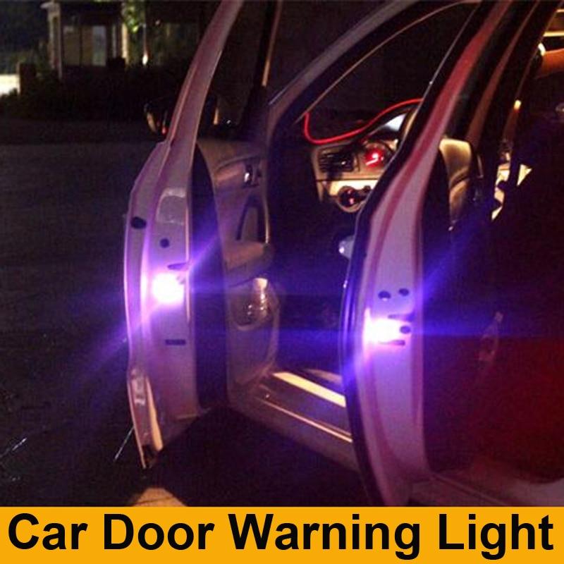 Luces de puerta de coches LED lámpara de advertencia señal lámpara para KIA RIO Ford Focus Hyundai IX35 Solaris Mitsubishi ASX Outlander Pajero