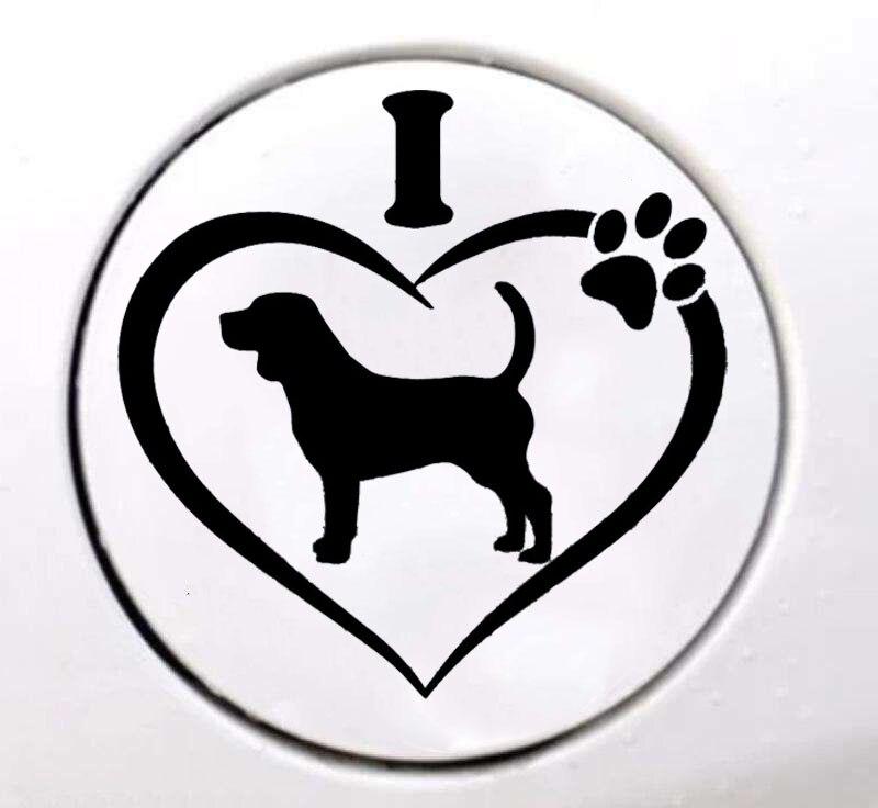 I Love My Beagle Sticker Decal Dog Vehicle Motorcycle Suvs Bumper Car Window Laptop Windows Car Stickers