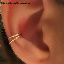 925 argent oreille manchette or rempli bijoux faux Piercing Oorbellen Pendientes bijoux faits à la main Boho boucles doreilles pour les femmes