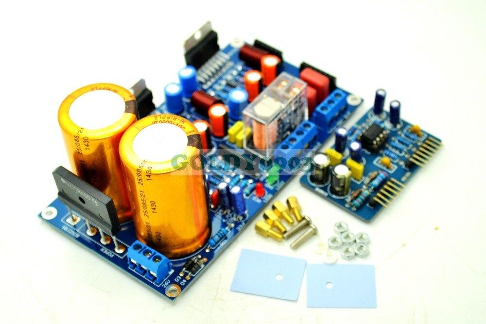 Terminou TDA7293/TDA7294 2.0 Placa De Amplificador de Potência Estéreo Com Som Proteger Kit + NE5532 Pré-amplificador