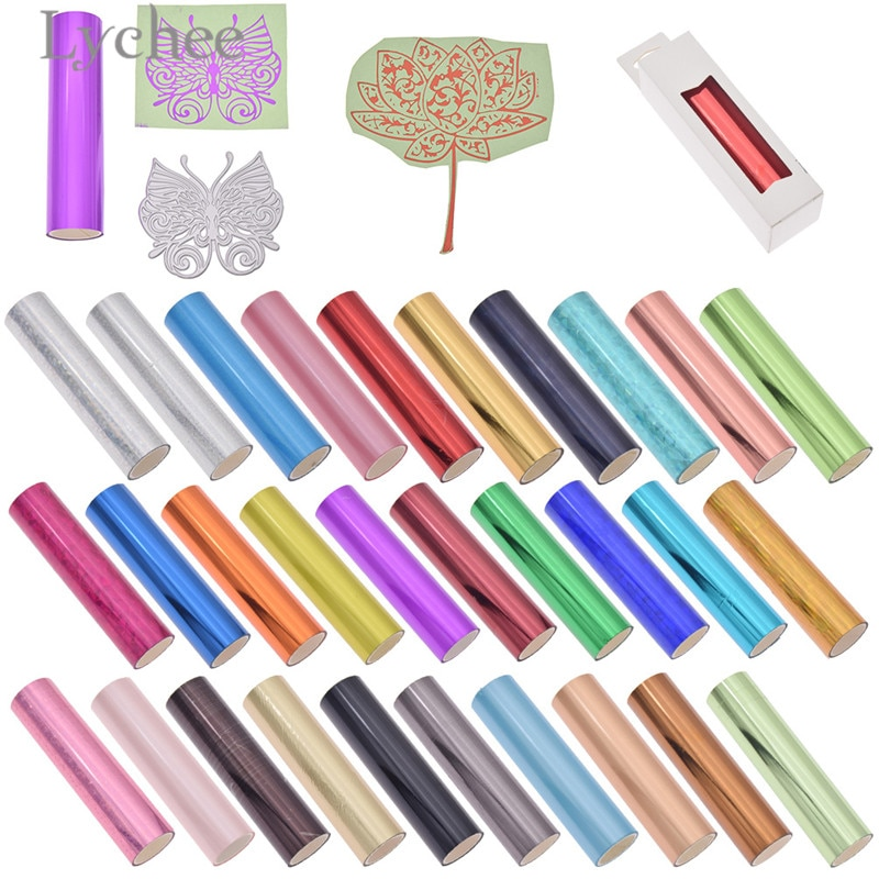 Lychee Hot Stamping Foil Multicolor Laser Foil Paper DIY Material For Leather Garment Bag Box Card