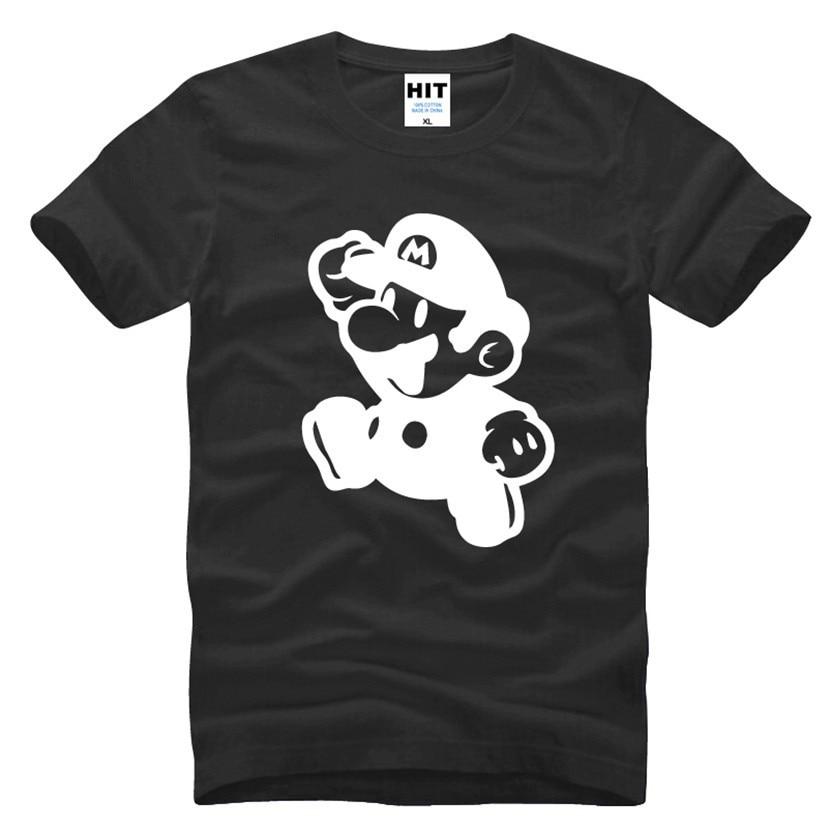 Super Mario Supermario Cartoon Mens Men T Shirt T-shirt Fashion 2016 New Short Sleeve Cotton Tshirt Tee Camisetas Masculina