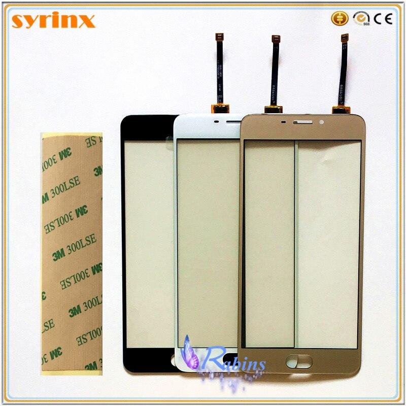 Pantalla táctil de 5,5 pulgadas, panel táctil de vidrio frontal para Meizu M5 Note/Meilan Meiblue Note 5 Note5, cinta 3m gratis