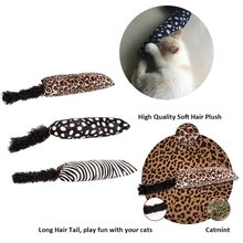 Divertido juguete interactivo de gato de pelo largo juguetes de menta para mascotas artículos para gatos juguetes de gato