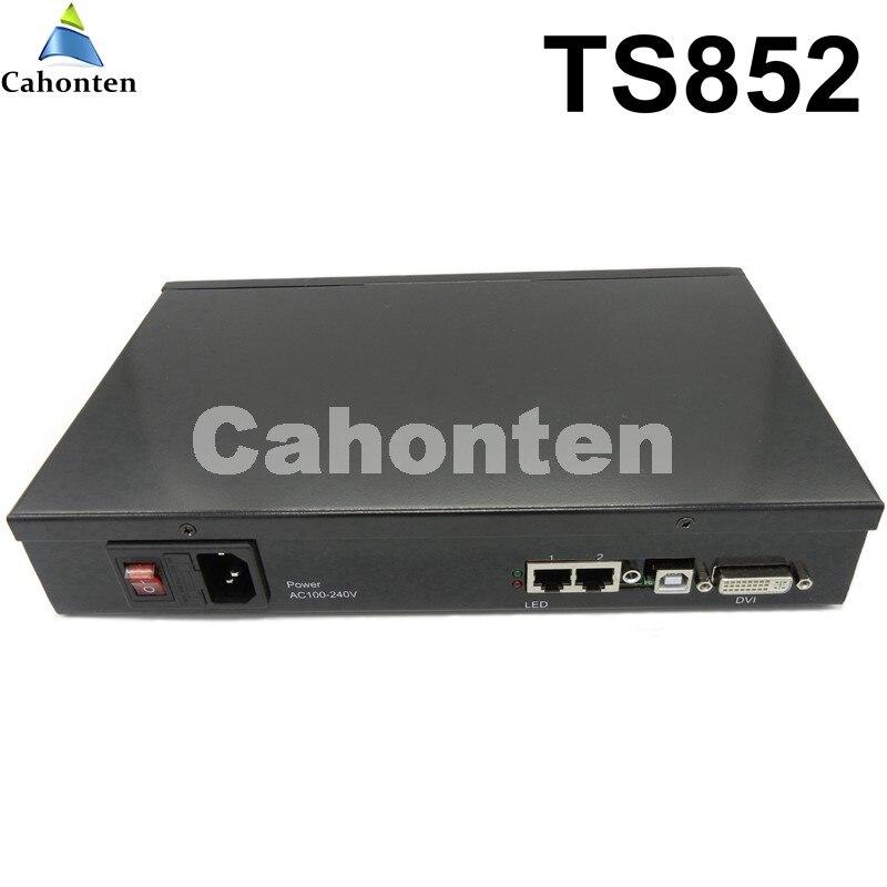 Caixa Remetente Linsn TS852 Full Color Display LED tela Externa Envio ts802 Cartão cartão incluído suporte porta DVI