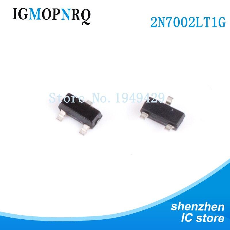 100PCS 2N7002LT1G 2N7002 SOT23-3 MOSFET N-CHANNEL 60V 115mA Neue schnelle lieferung