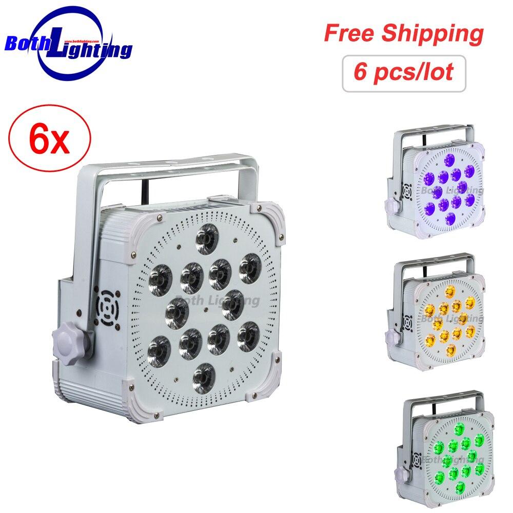 Mejor Precio 12x18W RGBAW UV recargable lavado LED Uplights inalámbrico alimentado por batería LED Par Uplighting para la boda