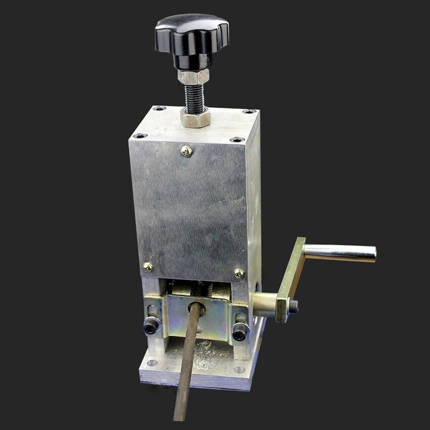 B-801-6 دليل كابل سلك تجريد آلة 220V/50Hz كابل الأكمام كابل سلك تقشير آلة 100-300KGS 1-25 مللي متر تجريد المدى