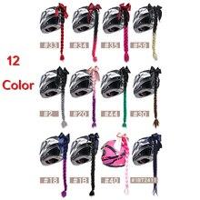 Tresses de casque tressé de moto   12 couleurs, Style Punk, dégradé de rampe pour moto, moto plein visage de moto hors route, tresse de casque