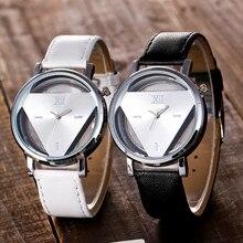 Vansvar Mode 2019 Frauen Silber Dreieck Uhr Casual Transparenten Hohl Edelstahl Quarz Uhren Relogio Feminino Q