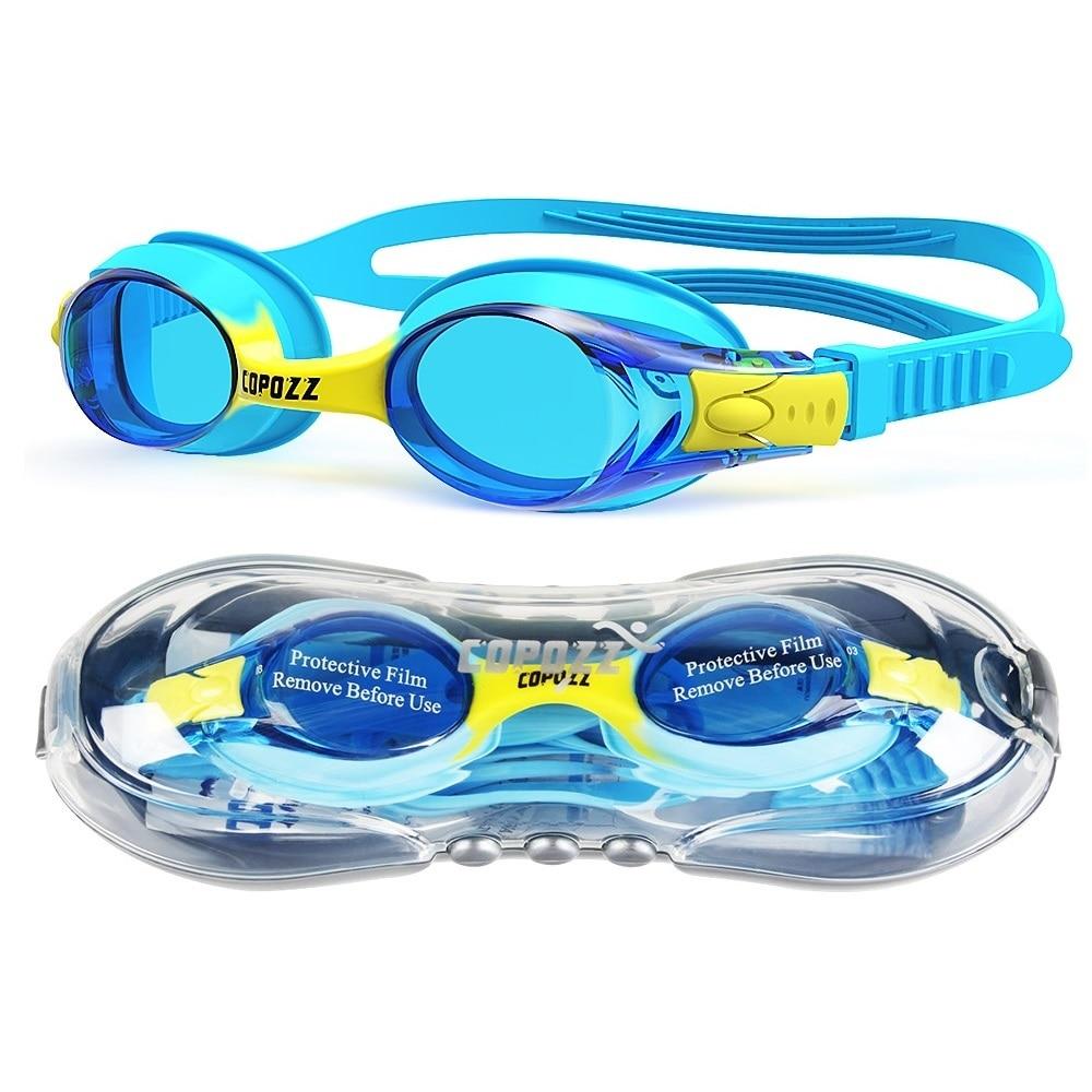 Copozz Waterproof Anti Fog UV Child Professional Colored Lenses Diving Swimming Glasses kids Eyewear Swim Goggles Gafas Nata