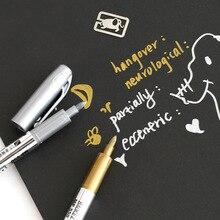 4 pcs Permanent color marker pen Gold Silver metallic craftwork pens Signature on CD Febric leather metal ceramic glass EB931