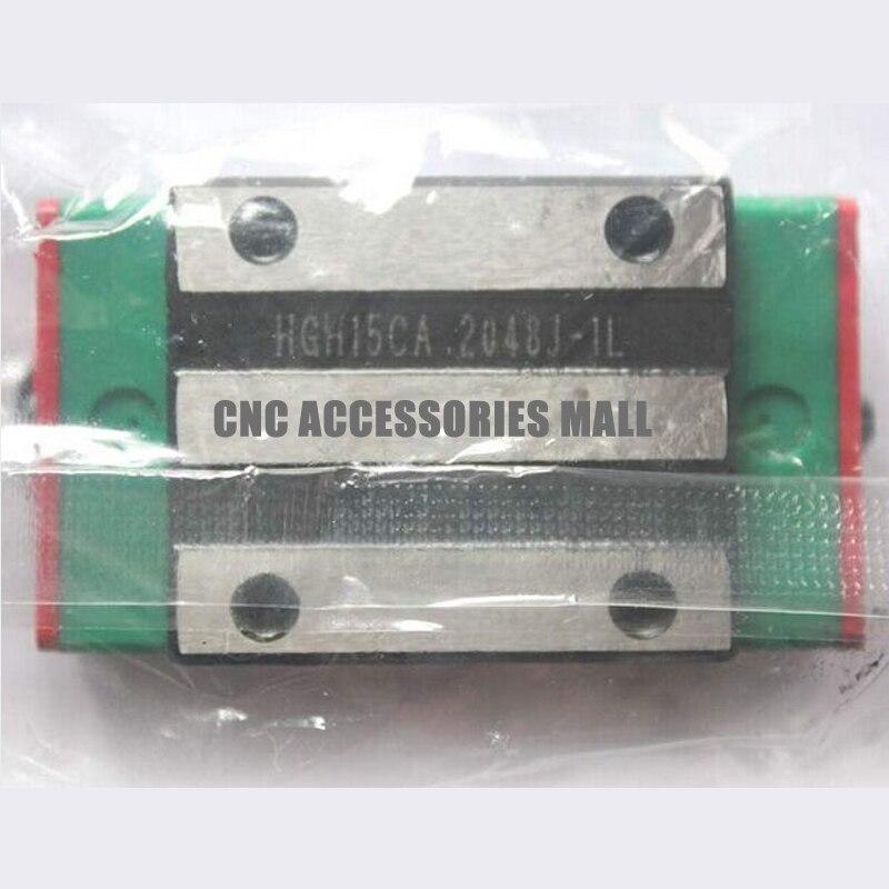 1 Uds HGH15CA Original HIWIN bloques de guía lineal que combinan con HGR15 rieles de guía lineal