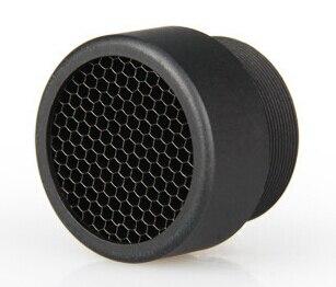NUEVA cubierta protectora táctica de malla metálica de 25MM para mirilla negra envío gratis