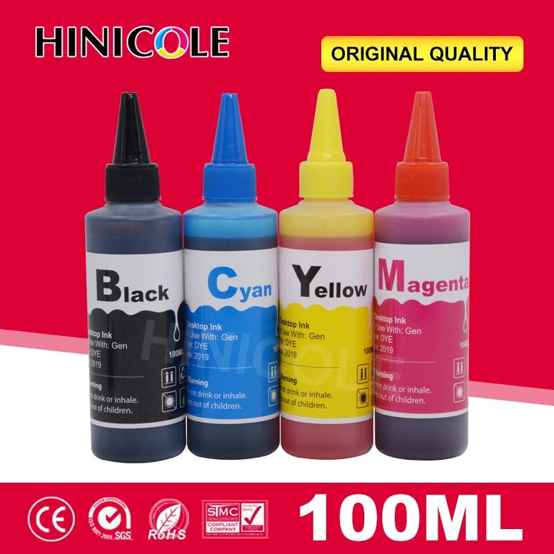 Kit De Recarga de Tinta Corante 100ml Para Epson CX5900 T40W TX205 TX209 TX409 TX419 TX300F CX4900 CX3905 TX100 Impressora Garrafa tinta
