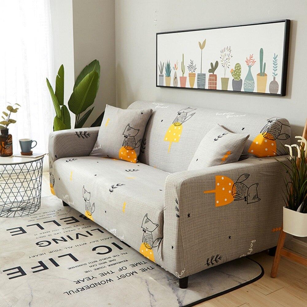 Spandex elástico estampado geométrico sofá seccional cubierta Fundas protectoras todo incluido funda de sofá cubierta sala de estar