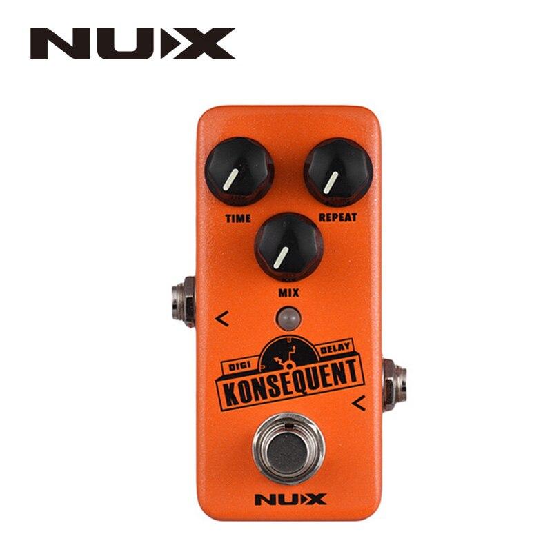 NUX NDD-2 Konsequent Digital pedal de guitarra de efecto Delay retardo 800ms de Tap Tempo función carcasa totalmente de metal Bypass verdadero partes