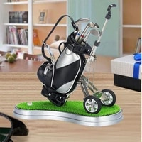 crestgolf golf car contains 3 parts of aluminum pen golf bag penholder golf souvenir golf car accessories