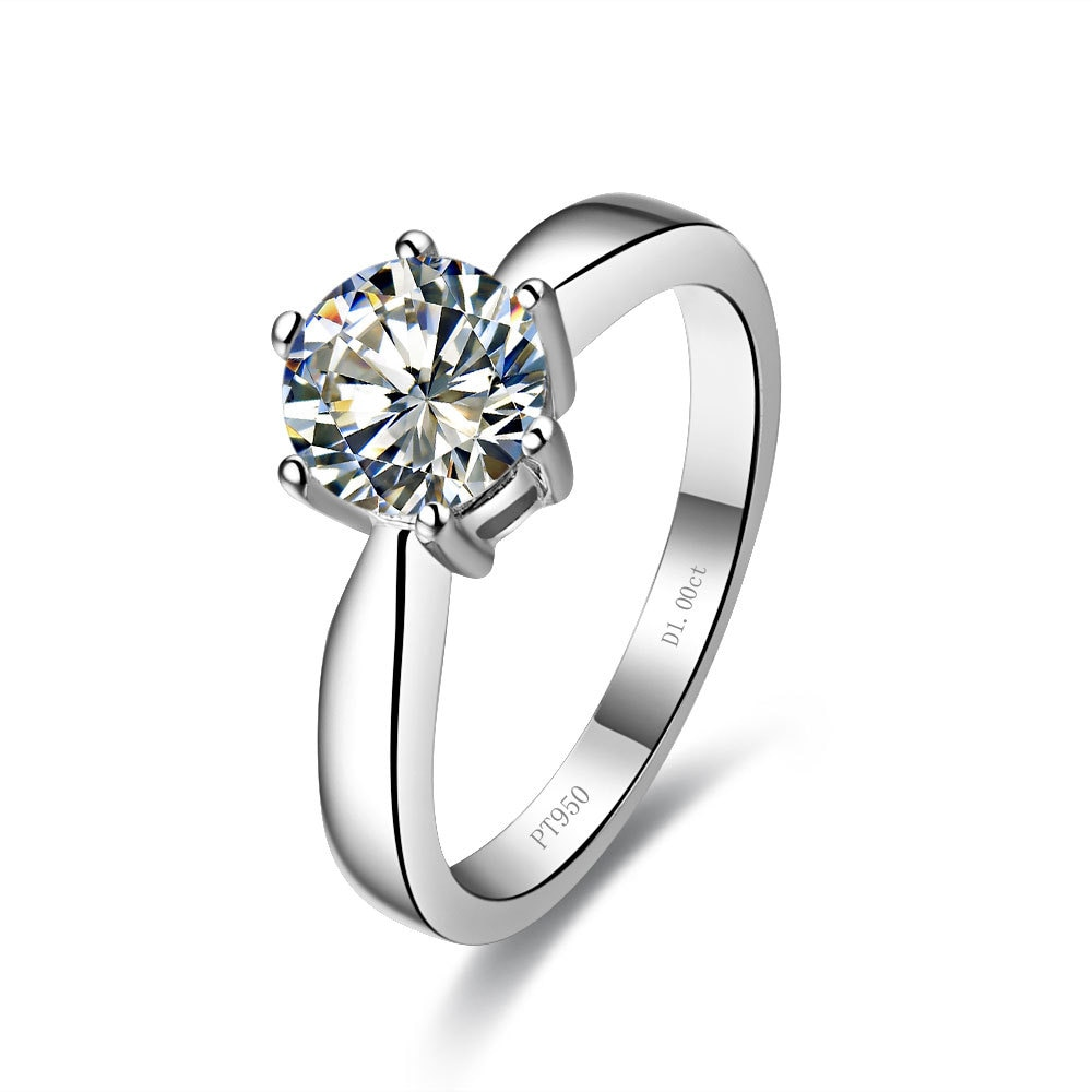 Elegant 1ct  Fine Diamond Wedding rings for women silver 925 lovely gemstone Ladys finger jewellery gold Cover