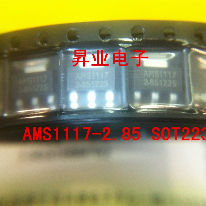 10 unids/lote AMS1117 columna AMS1117-2.85 1A regulador de baja caída SOT223 paquete nuevo original