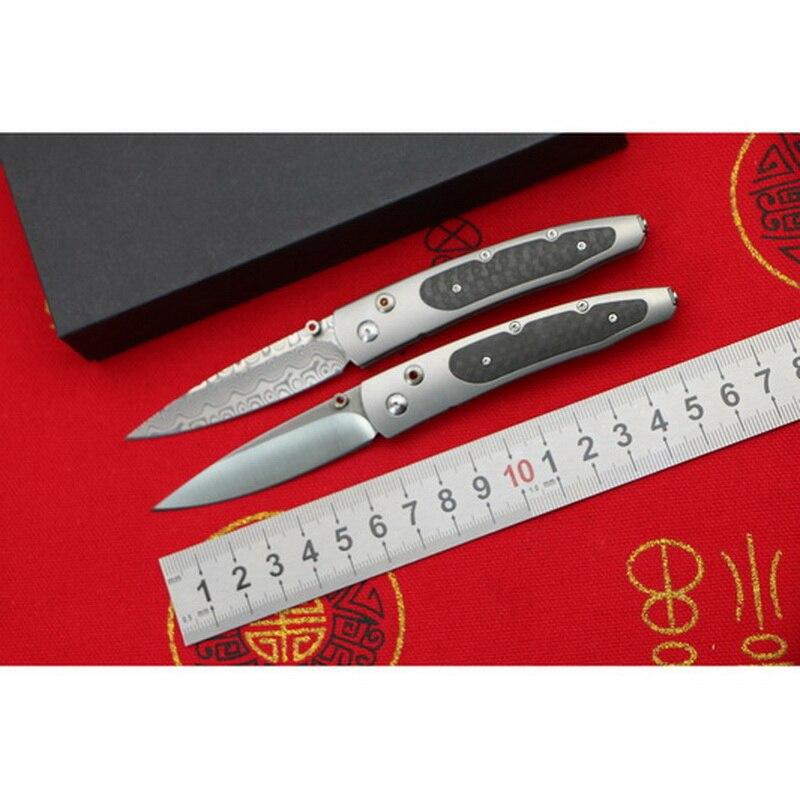 Cuchillo plegable B30 para supervivencia al aire libre de titanio, cuchillo de bolsillo para caza y camping, herramientas EDC