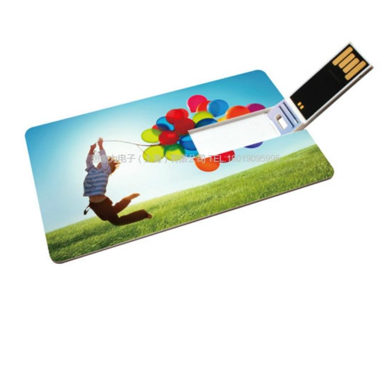Tarjeta bancaria de fotos con impresión colorida de logotipo, memoria USB de...