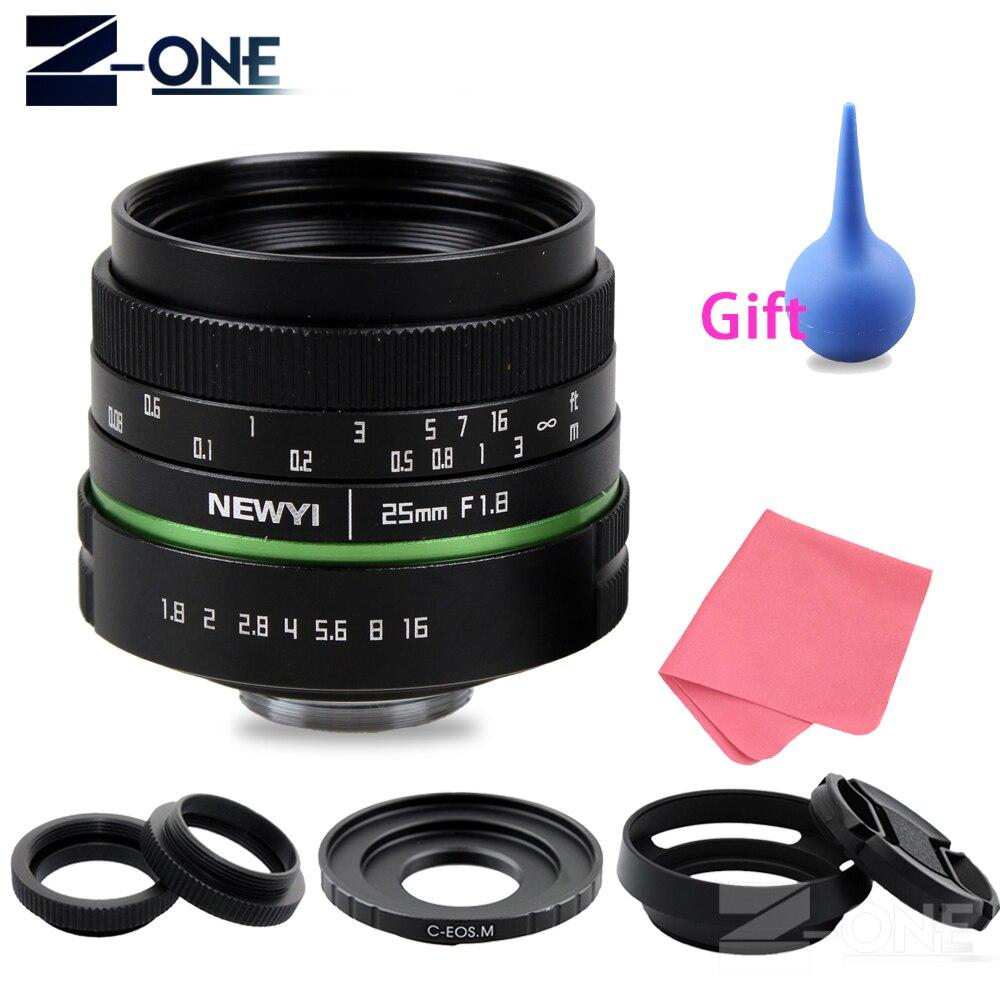 25mm F1.8 APS-C Manual Camera Lens+C Mount Adapter+Macro Rings Kit For Canon EOS M M2 M3 M5 M6 M10 Mirrorless Camera Canon lens