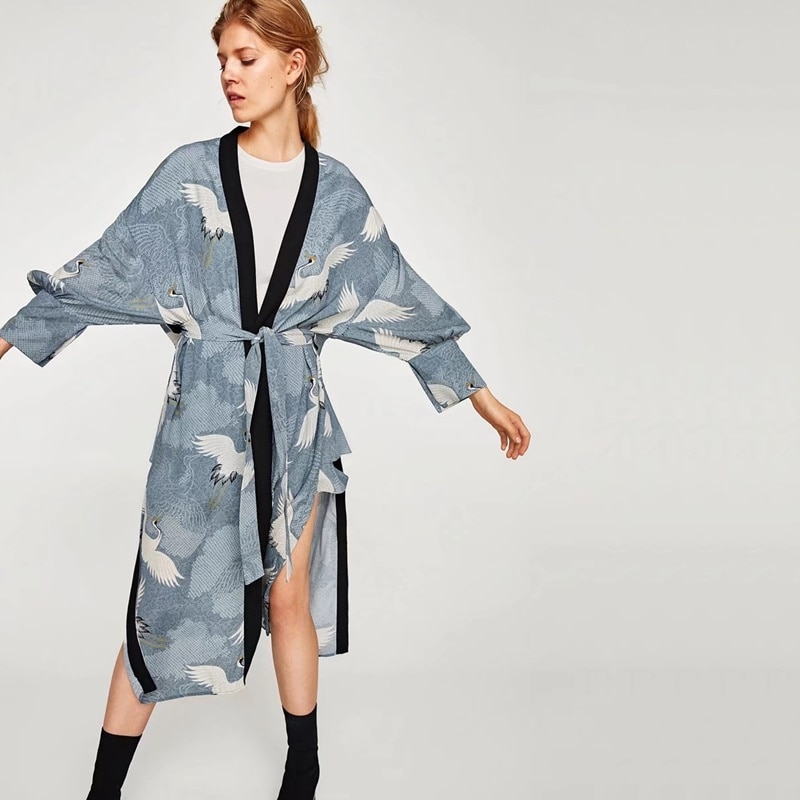 Camisa larga femenina kimonos mujer 2018 Harajuku japonés kimono cardigan blusa camisa yukata mujer ropa informal japonesa TA448