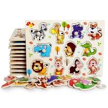 2 sztuk wczesna edukacja zabawki edukacyjne cartoon zwierząt cyfrowy drewniany dla dzieci zestaw puzzli gry szkoła przedszkole dla dzieci prezent
