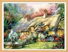 Fontaine de jardin Villa bricolage 40x30cm   kit de peinture en diamant, fontaine de jardin, Villa