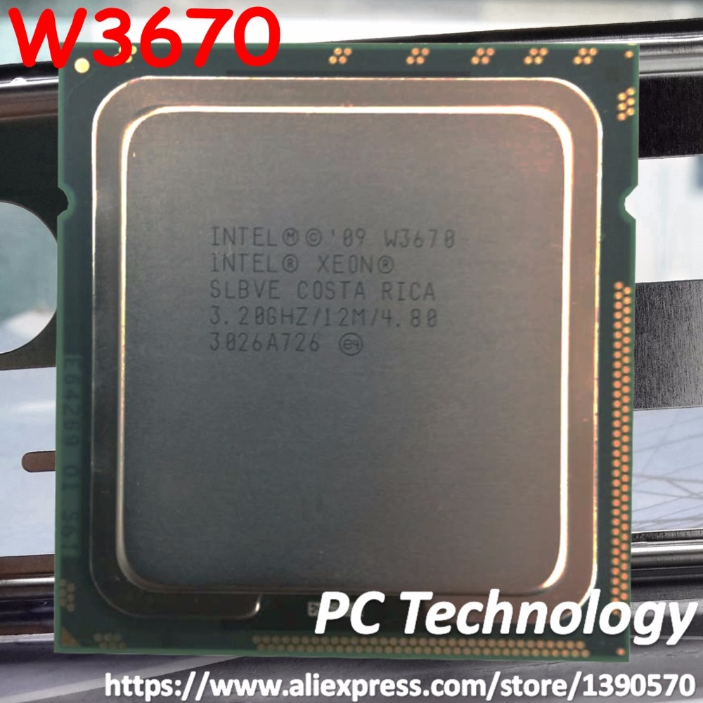 Original Intel Xeon W3670 procesador 3,20 GHZ 6-12 M Cache LGA1366 CPU 130W envío gratis