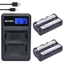 Batmax 2600 mAh 2PcsNP-F550 NP-F330 NP F550 NP F330 batterie de caméra + LCD double chargeur USB pour Sony NP-F550 NP-750 lumières de caméra