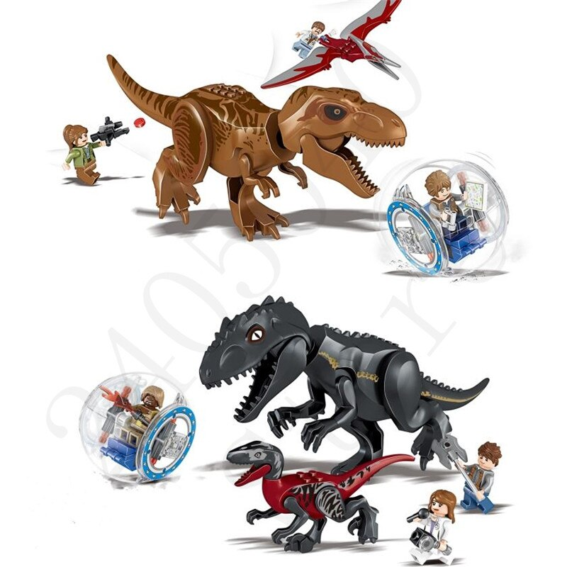 (Lis) dinosaurio Jurásico World Base del parque Tiranosaurio Rex Get Away bloque de construcción juguete de Navidad