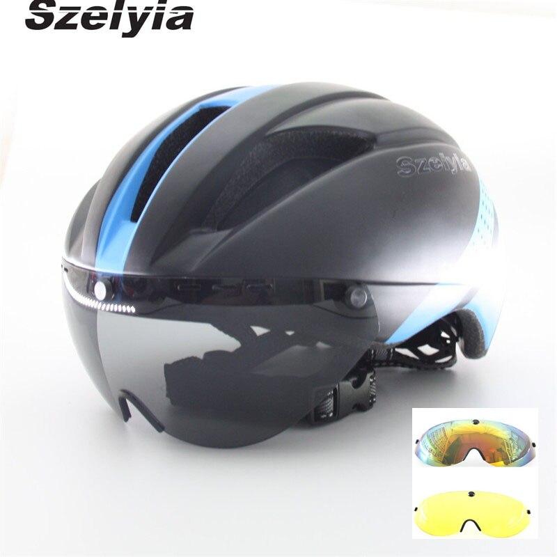 Casco de Ciclismo para hombre, integralmente, Mtb, casco de bicicleta de carretera, 3 lentes, visor, vidrio múltiple, Capacete da Ciclismo, casco