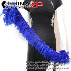 CHINAZP 850 peças/pacote de Tamanho a partir de 5 polegadas a 8 polegadas de Melhor Qualidade Enfiadas Branqueada e Tingida de Azul Royal Penas de galo Sela