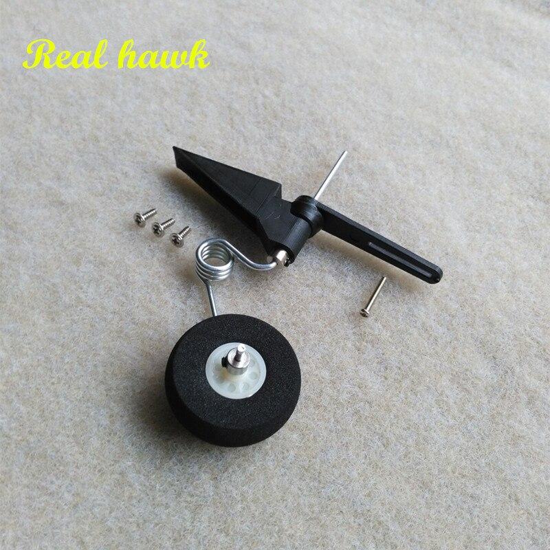 20 pcs/lot 50-120 class steering tail wheel COMBO fiber glass bracket + wheel + steering system aircraft tail wheel