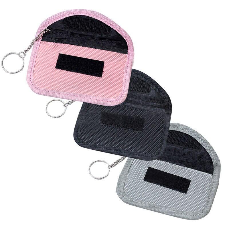 1 pc Multi-Função RFID Chave Saco Chave Do Carro Anti-roubo Anti-eletromagnético-radiação-sinal Blindagem Caso Chave Do Carro chave anel